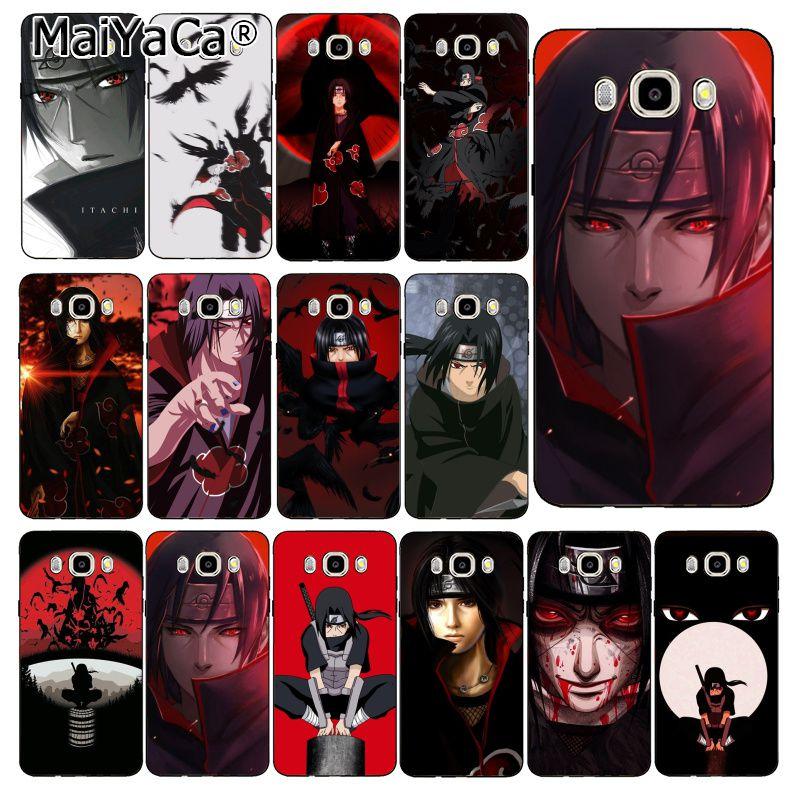 MaiYaCa Naruto Itachi Uchiha cubierta de la caja del teléfono para Samsung Galaxy J7 J6 J8 J4 J4Plus J7 DUO J7NEO J2 J7 primer