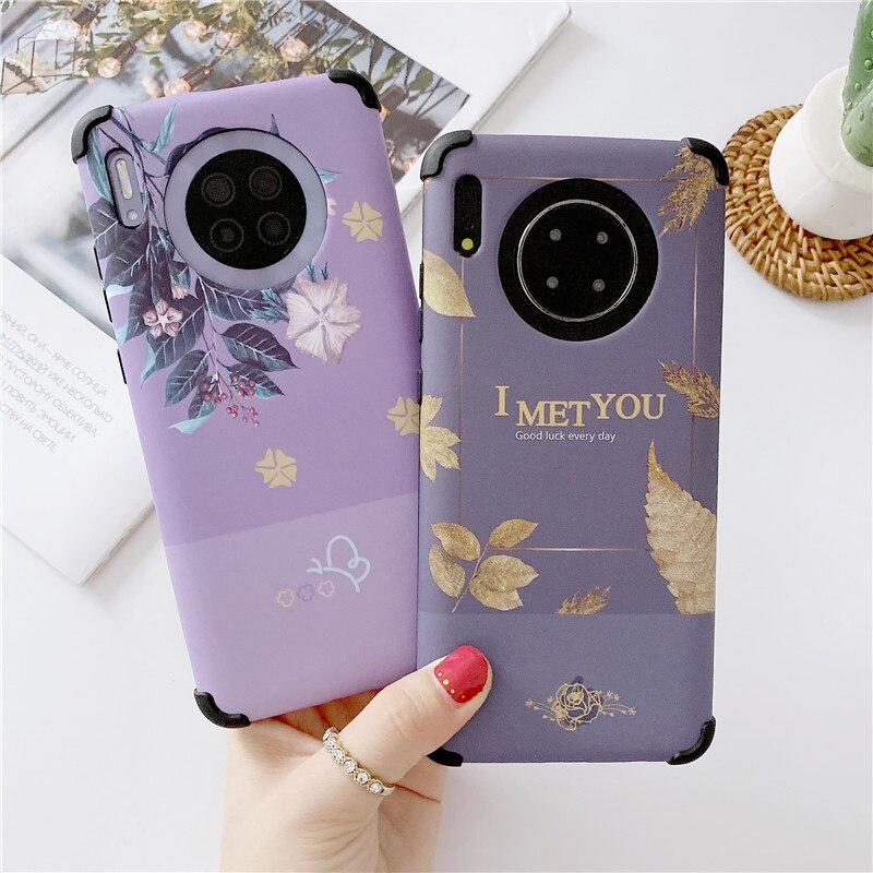 For Huawei Mate 30 Honor 20 8S 9X 8X X10 Play 4T Pro Case Flower Armor Heavy Duty Back Covers Skin C