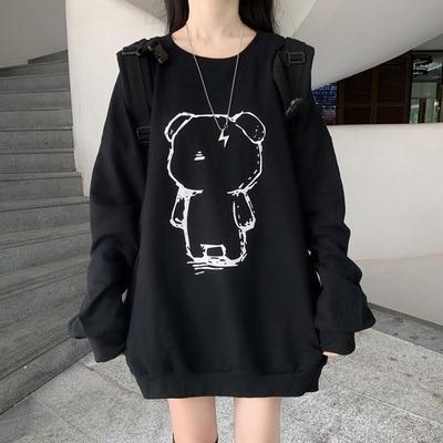 Women's Sweatshirts Autumn 2021 New Hoodies Women Korean Style Loose And Lazy Style Mid-Length