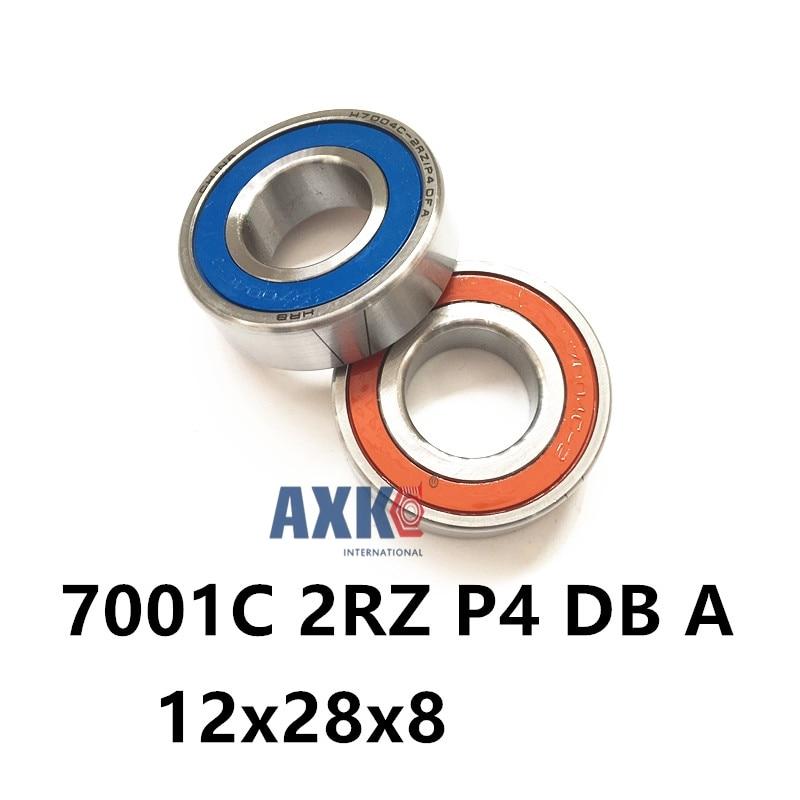 1 زوج AXK 7001 7001C 2RZ P4 ديسيبل A 12x28x8 12x28x16 مختومة محامل للاتصال الزاوي سرعة المغزل محامل CNC ABEC-7