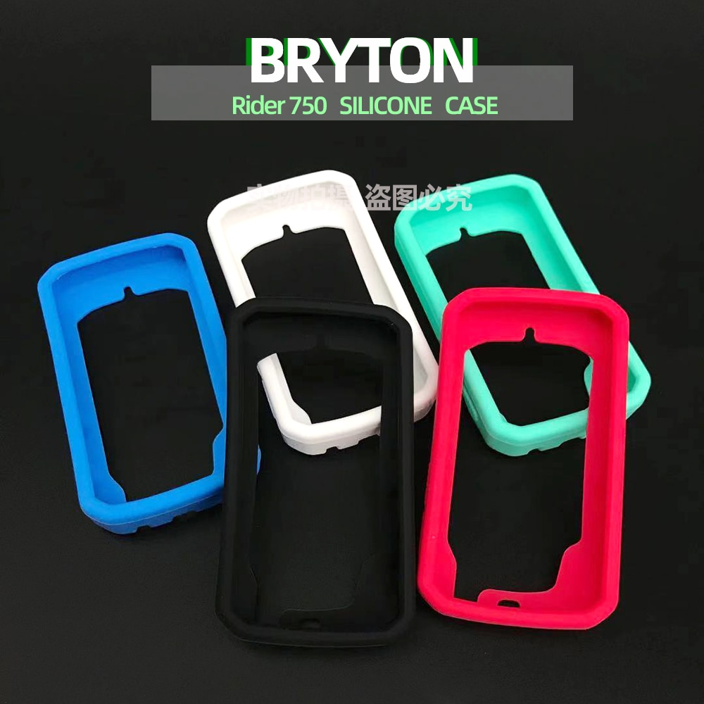 Bryton Rider 750 Rider750 Case Bike Computer Silicone Cover Cartoon Rubber Protective  With HD Film (For Bryton750)