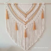 hand woven color macrame tapestry wall ornament bohemian craft decoration gorgeous tapestry for home bedroom 70 90cm