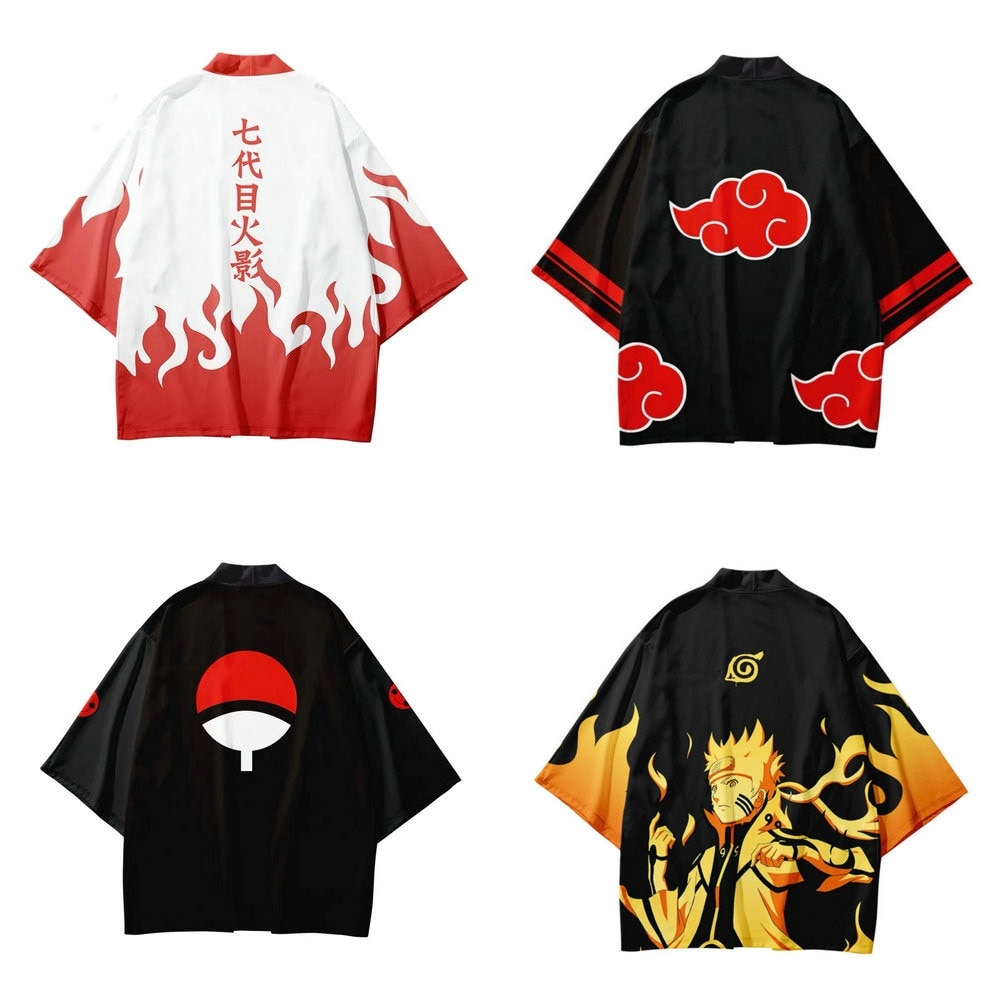 NARUTO 3D Printing Japanese Kimono Haori Yukata Cosplay Women/Men Fashion Summer Casual Short Sleeve Streetwear Jackets Clothes