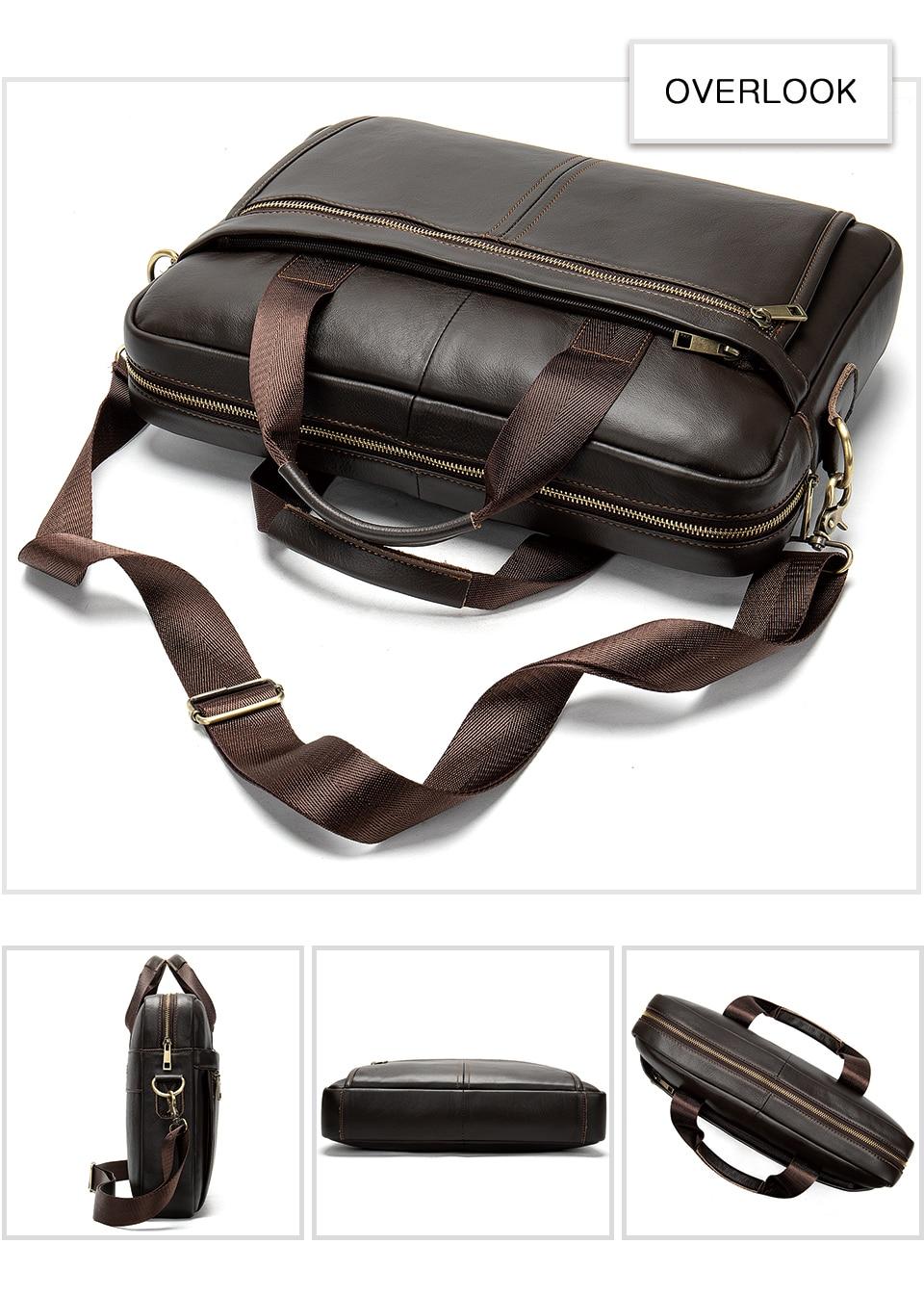 Torba za torbe muška torba muška od prave kože 14 '' torba za - Aktovke - Foto 6