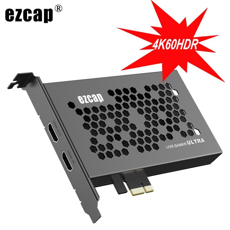 الترا 4K 60fps HDR 1440p 144fps 1080p 240fps حلقة PCIE فيديو بطاقة التقاط الصوت والفيديو PCI اكسبرس لعبة صندوق تسجيل البث المباشر جهاز
