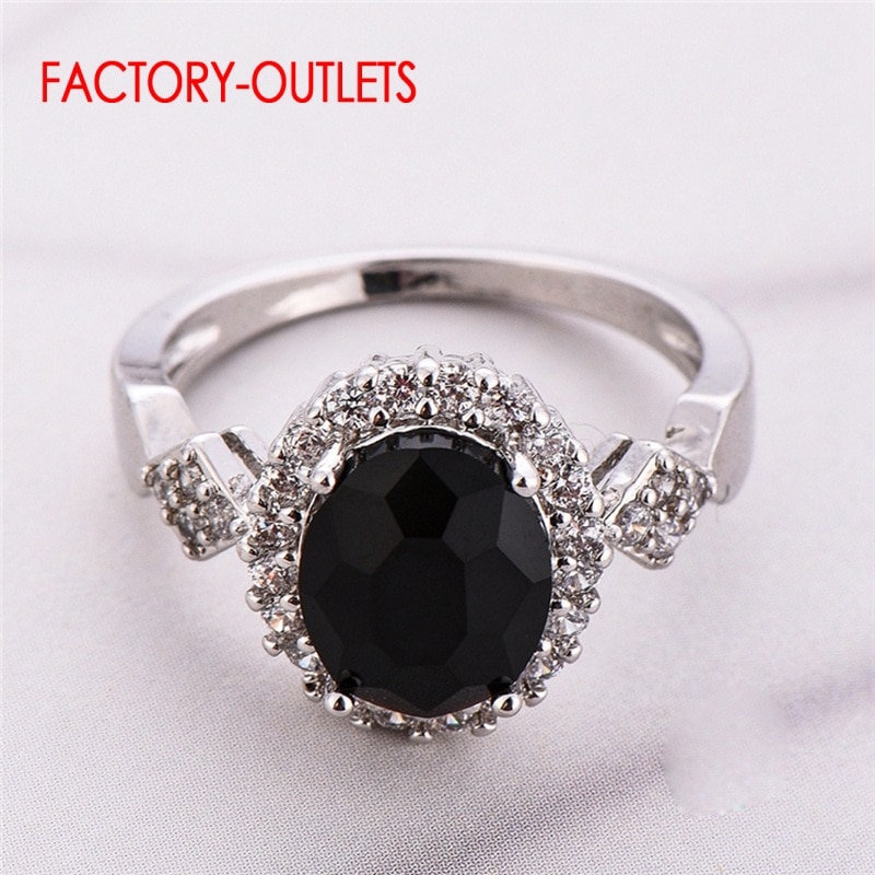 mytys black silver two tone rings for women fashion party leaf hollow out girls rings gift wholesale drop shipping r1985 Drop Shipping Quite Beautiful Crystal Rings For Young Girls Genuine 925 Sterling Silver Rings With Bright Crystal For Women