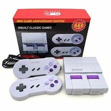 Livraison directe nouveau rétro Super classique jeu Mini TV 8 bits famille TV Console de jeu vidéo intégré 660 jeux lecteur de jeu portable cadeau
