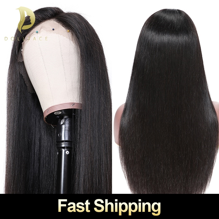 lace front human hair wigs for black Women brazilian natural straight remy hair short afro Wig 28 30 inch preplucked 13x4 130%