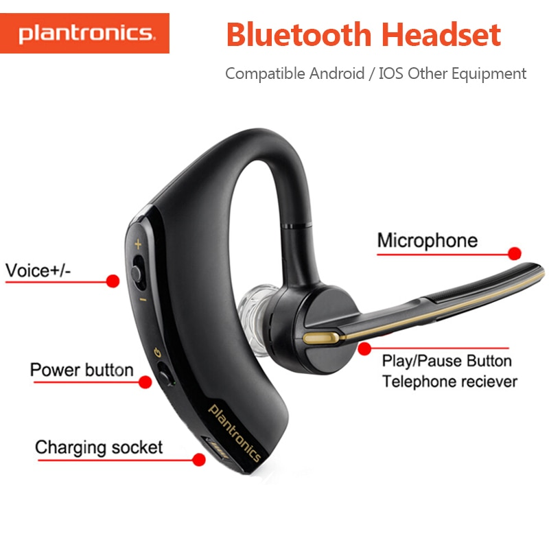 Auriculares Plantronics, inalámbricos por Bluetooth, auriculares de moda para negocios con Control de voz inteligente para Xiaomi