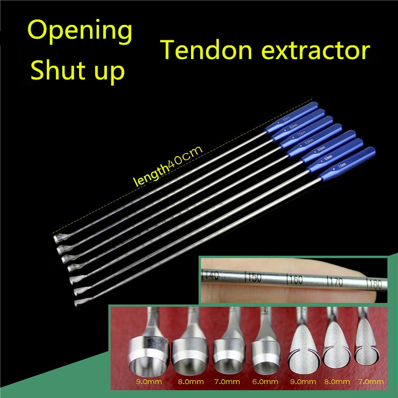 أداة تقويم العظام الطبية والرياضية ، استخراج الأوتار مع رأس مفتوح وإغلاق ، قضيب مستدير