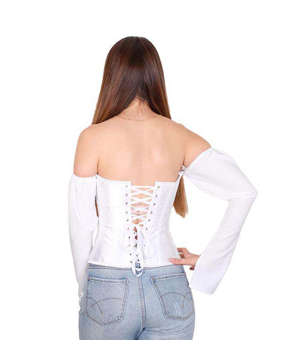 Women Sexy Off Shoulder Shirt  Blouse Lady Girls Fashion Back Bandage Slim Bustier Female Leotard Corset Ladies' Solid Tops Wear enlarge