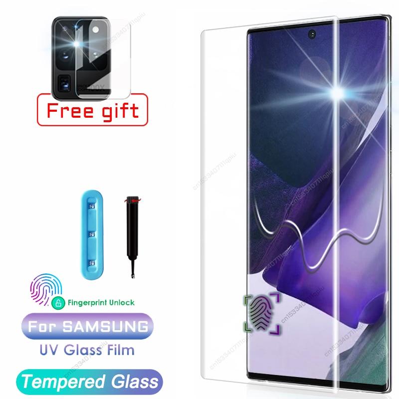 UV Gehärtetem Glas Für Samsung Galaxy Note 20 S20 Ultra S10 S9 S8 Plus Screen Protector S 10 9 8 s10E E Lite 5G Volle Abdeckung Film
