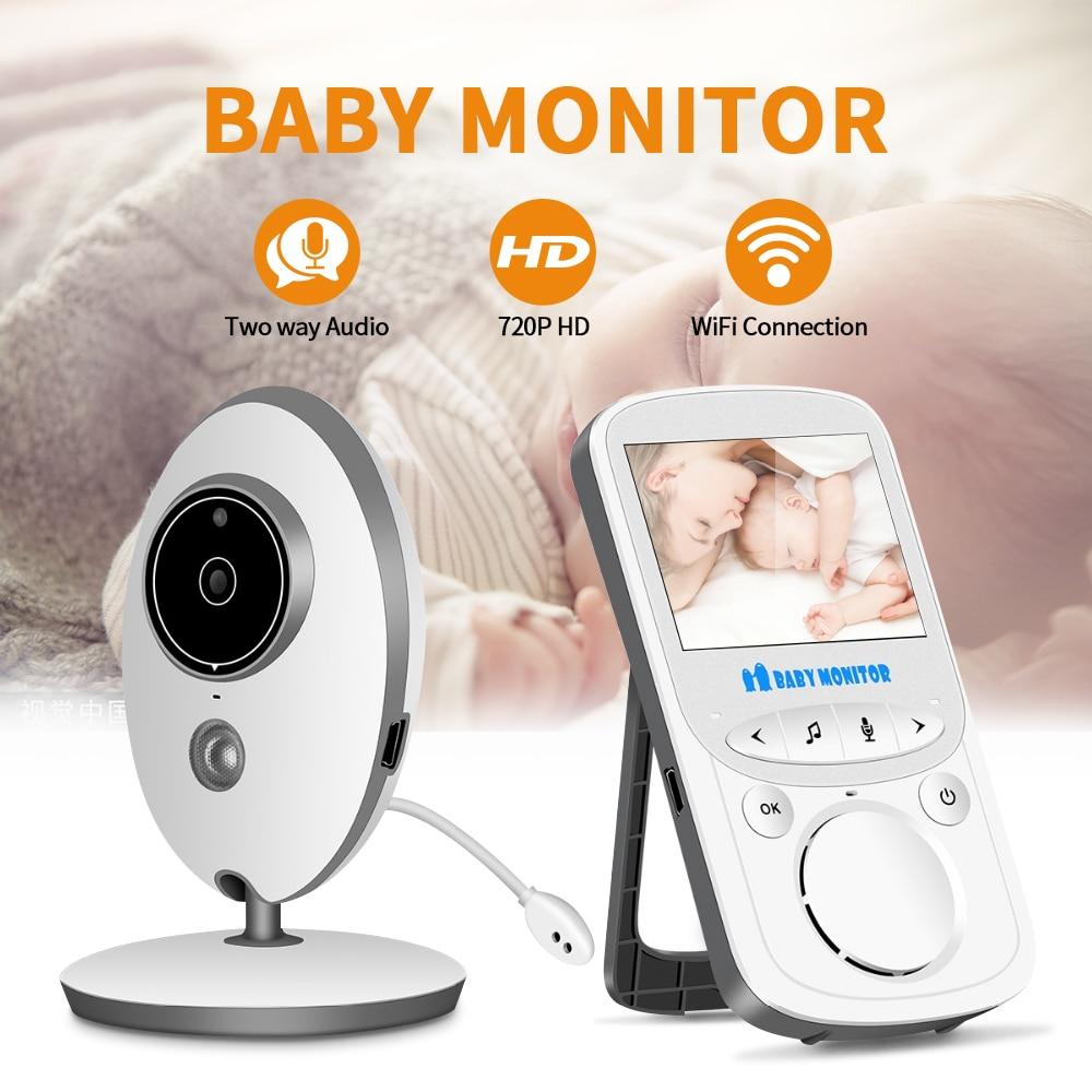 Baby Monitor VB605 Wireless LCD Audio Video Radio Nanny Music Intercom IR 24h Portable Baby Camera Baby Walkie Talkie Babysitter
