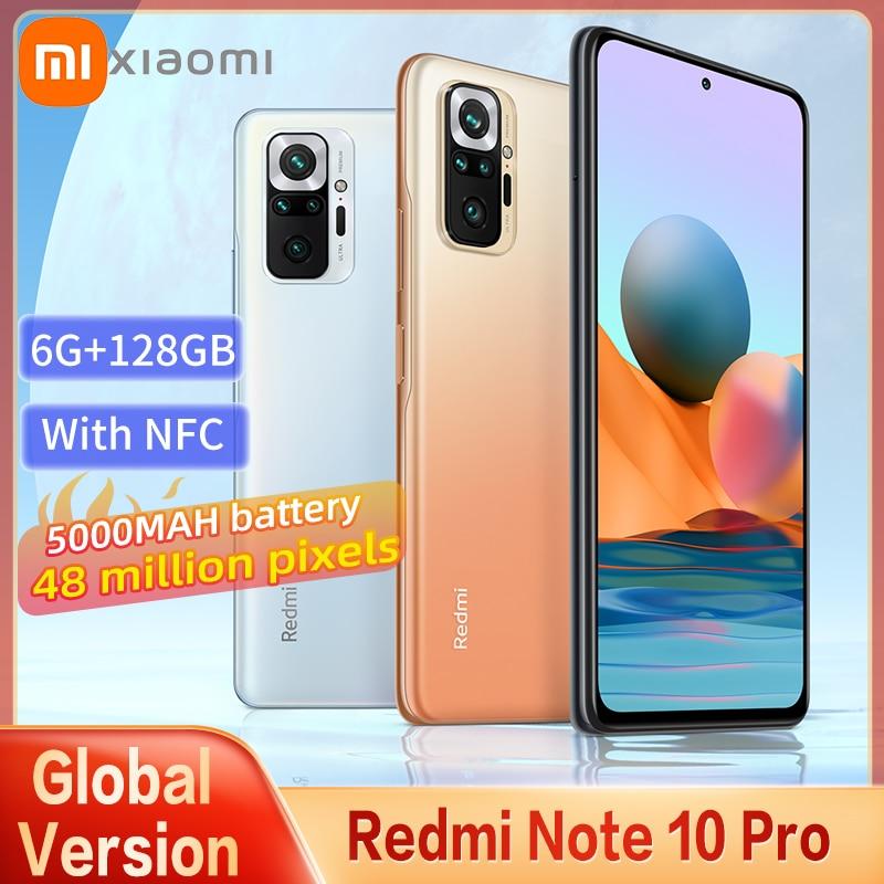 Original Global Version Xiaomi Redmi Note 10 Pro Smartphone Snapdragon 732G 108MP Camera 5020mAh Battery 120HZ AMOLED Screen