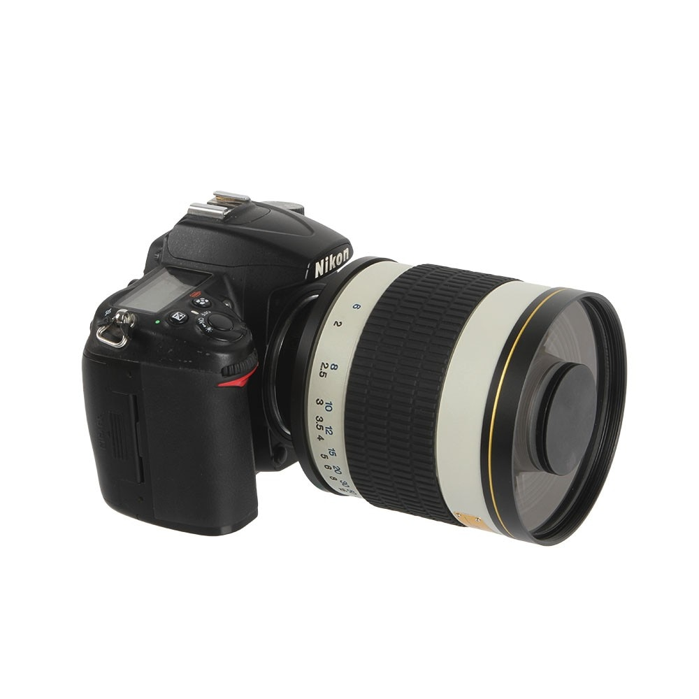 500mm F 6 3 Camera Telephoto Manual Mirror Lens   T2 Mount Adapter Ring for Canon Nikon Pentax Olympus Sony A6300 A7RII GH5 DSLR