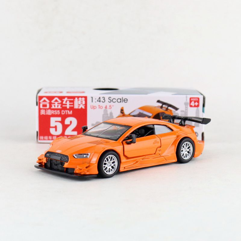 1:43 Масштаб Audi RS5 DTM сплав выдвижной автомобиль литой металл модель автомобиля для коллекции друг подарок детям