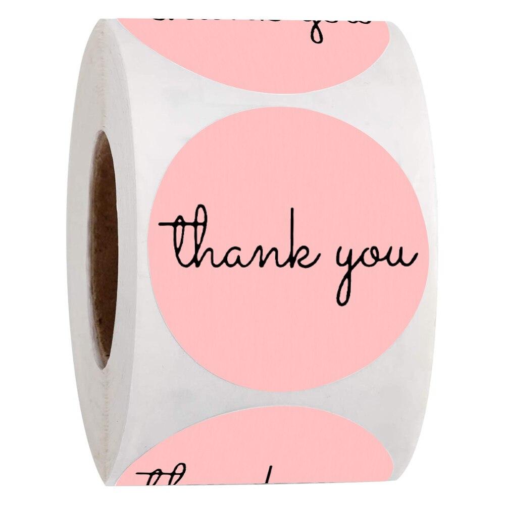 500-pcs-grazie-adesivi-etichette-di-carta-rosa-scrapbooking-per-regali-di-nozze-imballaggio-aziendale-etichette-di-tenuta-adesivi-di-cancelleria