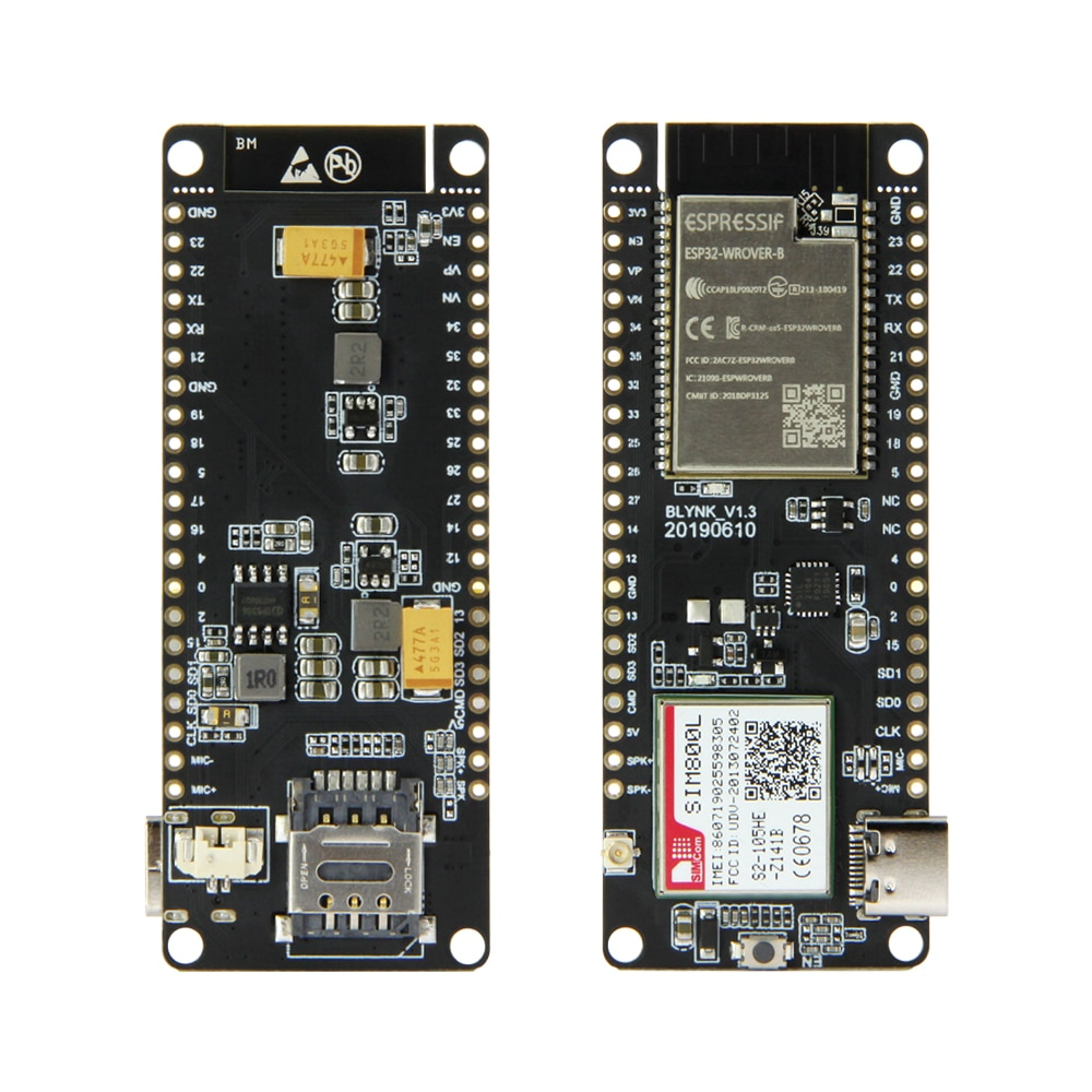 TTGO T-Anruf V1.3 ESP32 SIM800L Modul ESP32-WROVER-B Drahtlose Modul GPRS Antenne SIM Karte