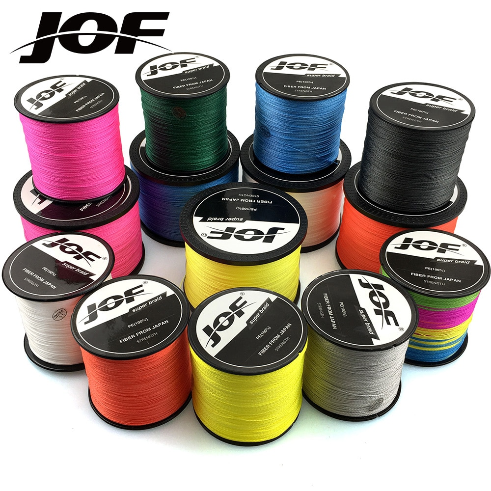 JOF PE Braided Fishing Line 500M 300M 100M 8 Strands 4 Strands Multifilament Fishing Line Carp Fishing Wire 10-120LB sougayilang 300m 4 strands braided fishing line 0 6 8 0 pe fishing line 6 3 32 8kg multifilament fishing line smooth pesca