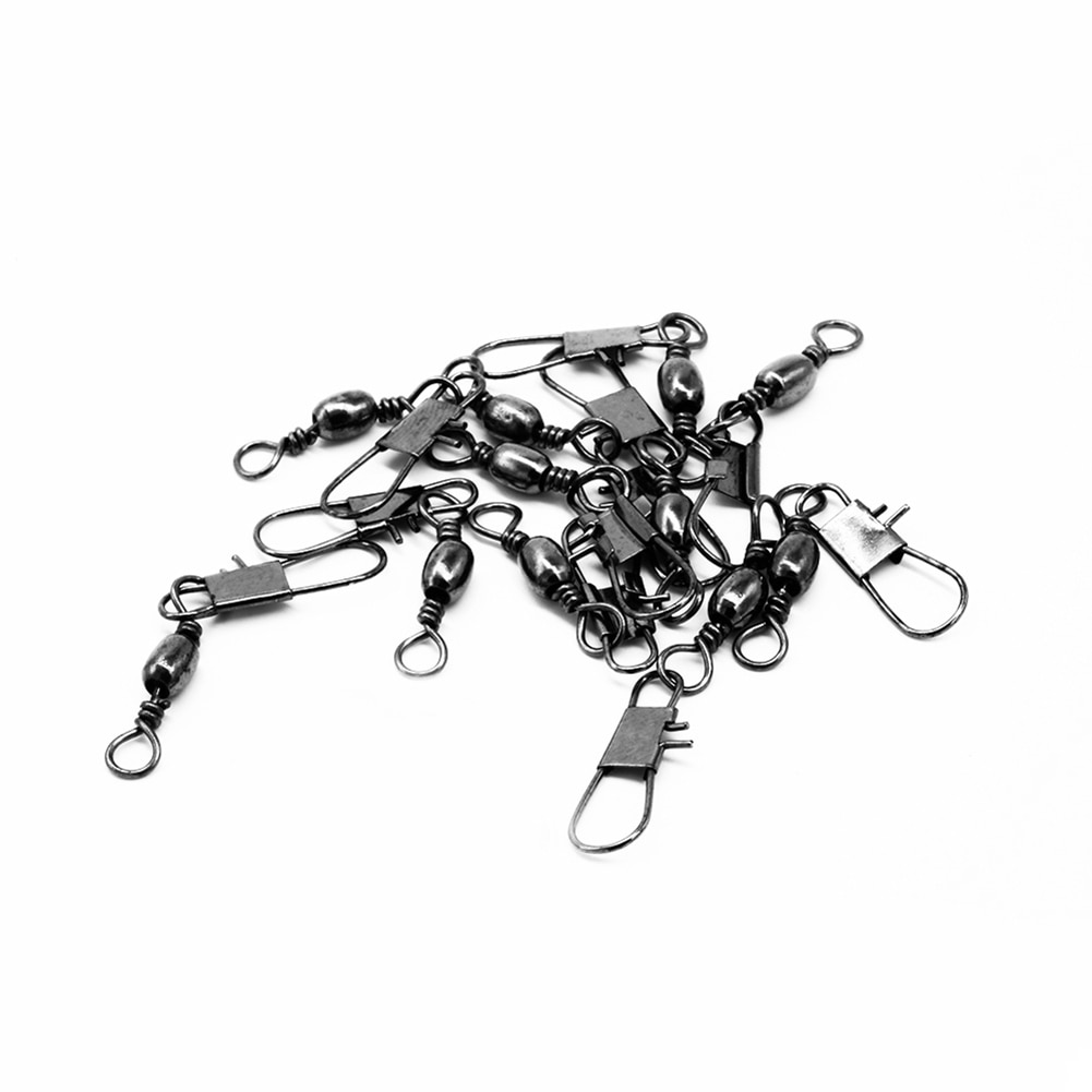 100pcs/box 6 Size Swivel Fishing Connector Snap Pin Rolling Fishing Lure Tackle Alloy Fishing Gear Fish Tool Fishing Accessories enlarge