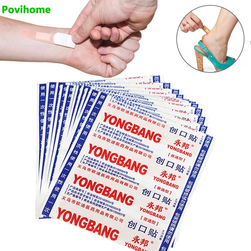 100pcs Breathable Waterproof Medical Band-Aids Wound Hemostasis Sticker Heel Cushion Adhesive Plaster First Aid Bandage 50pcs band aid breathable first aid bandage waterproof hemostasis cushion adhesive wound dressing emergency plaster