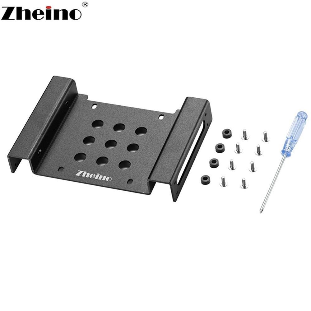 Zheino aluminio 2,5/3,5 a 5,25 disco duro interno montaje adaptador soporte Kit marco para 2,5/3,5 SATA HDD SSD