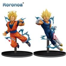 RORONOA Original Banpresto Dragon Ball Super rafale bataille Goku Majin végéta SSJ2 PVC figurine à collectionner modèle poupée jouets