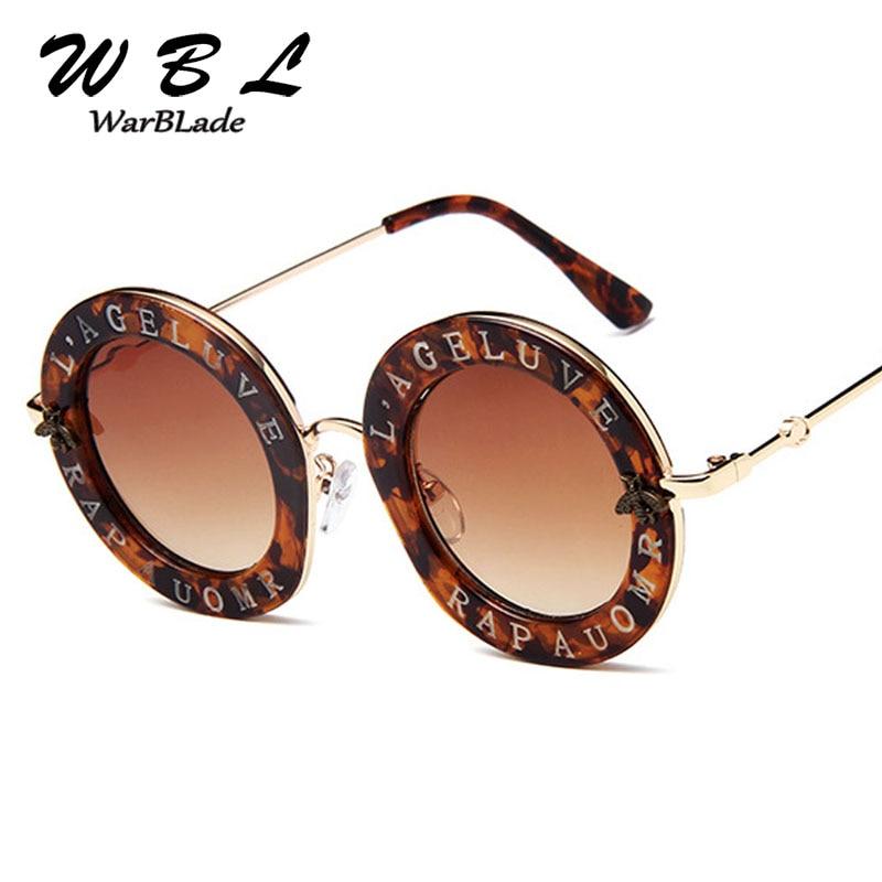 WarBLade Hohe Qualität Retro Runde Sonnenbrille Englisch Buchstaben Sonnenbrille Männer Frauen Marke Brille Designer Mode Männlichen Weibliche