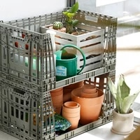 foldable extra large food storage containers beverage warehouse storage baskets plastic rangement cuisine kitchen items eh50b