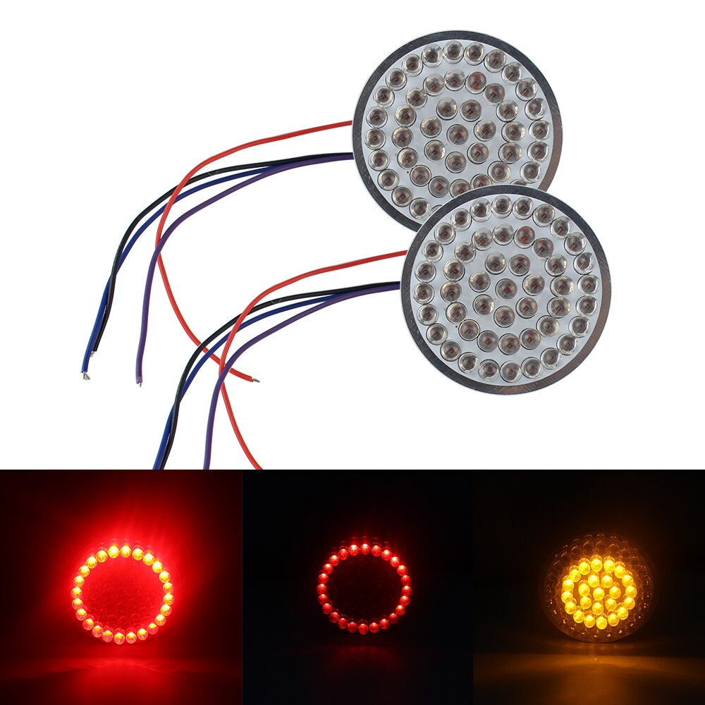1 par de nuevas luces de freno Rojas Luz de funcionamiento ámbar señal de giro LED señal de giro bala estilo insertos