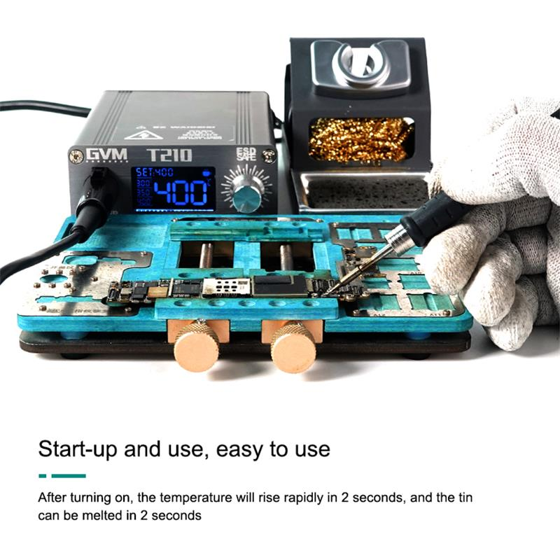 SUNSHINE GVM T210  LED Display Auto Sleep Soldering Station 2 Seconds Welding For Mobile Phone Repair Tools Whith C210 Tips enlarge