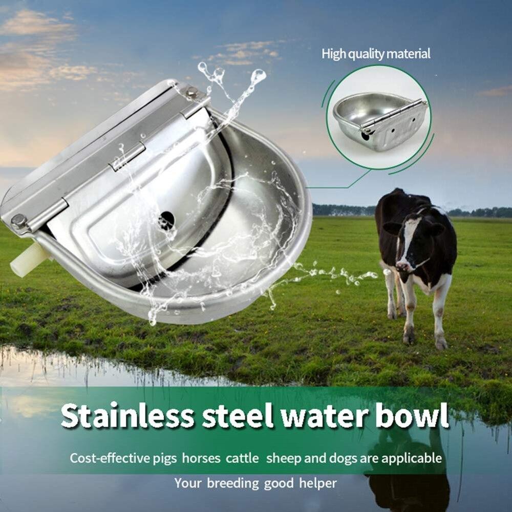 Tigela de água automática, tigela de água de aço inoxidável, alimentador de água para cães, vaca, bebida, ovelha, gado