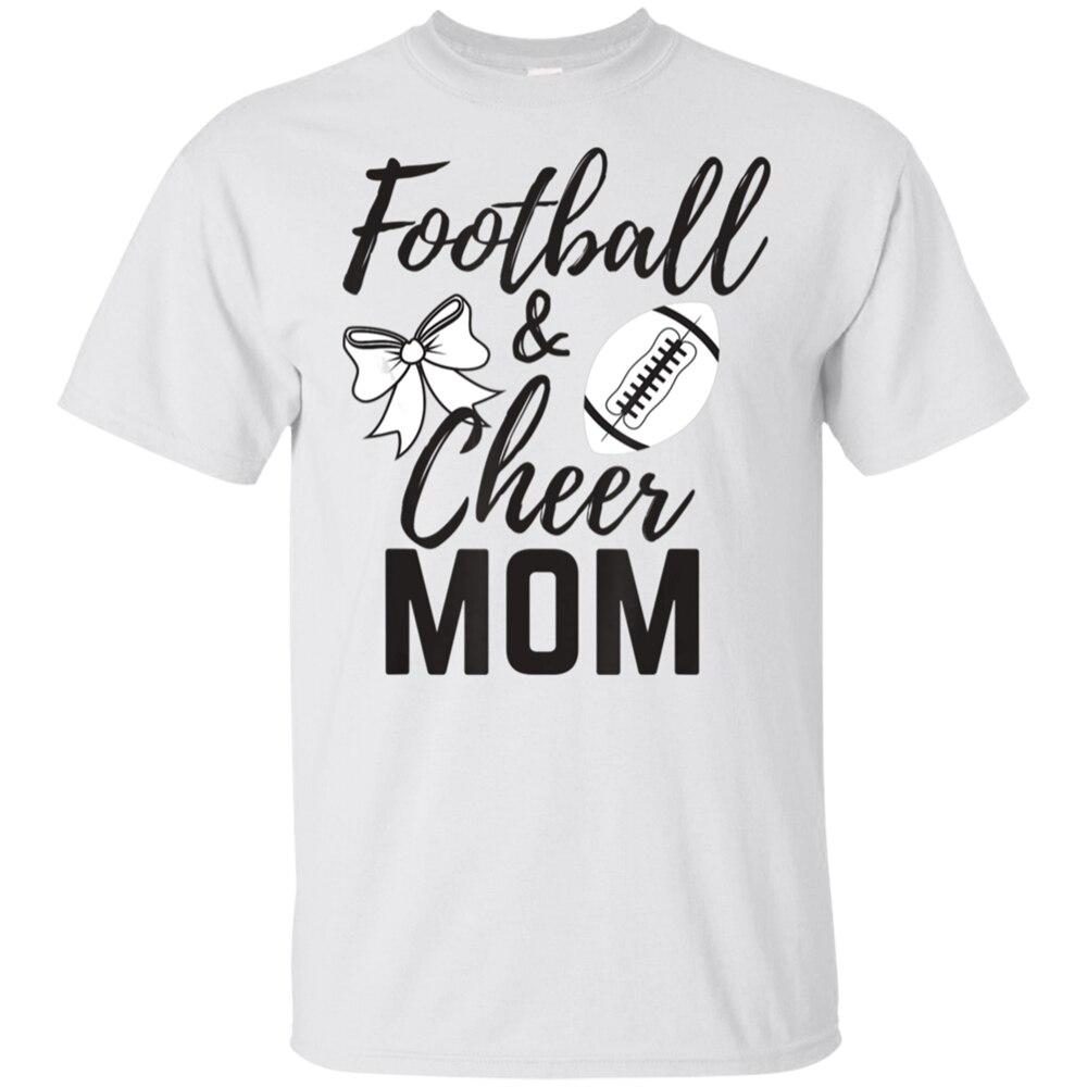 Lustige Sport Grafik Frauen Fußball Und Cheer Mom T-Shirt Weiß Für Männer-Frauen Slogans Angepasst T Hemd