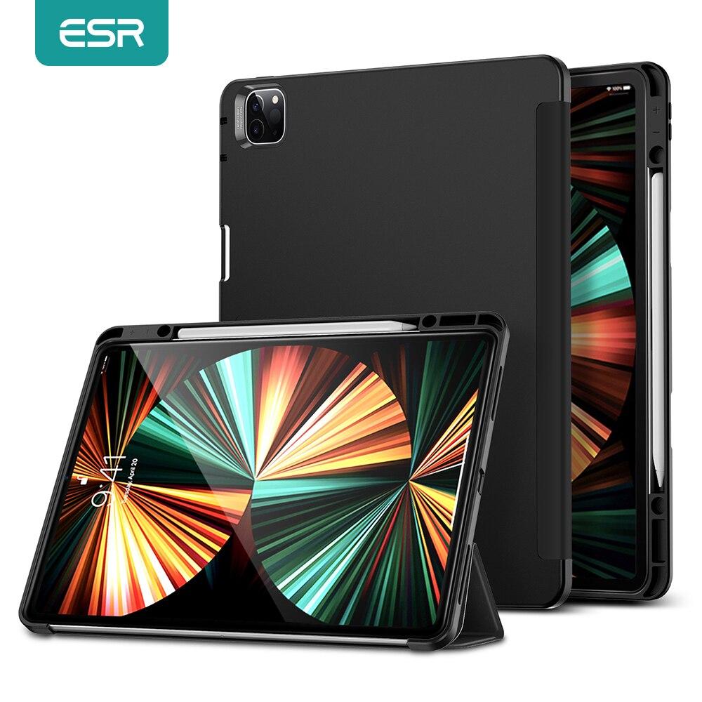 Чехол ESR для iPad с держателем для стилуса для iPad Pro 11 12,9 2021 2020, умный чехол для iPad 9, 8, 7, задняя крышка для iPad Air 4