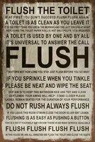 Regles de toilette  maison douce  signe metallique de Style retro Vintage  humoristique