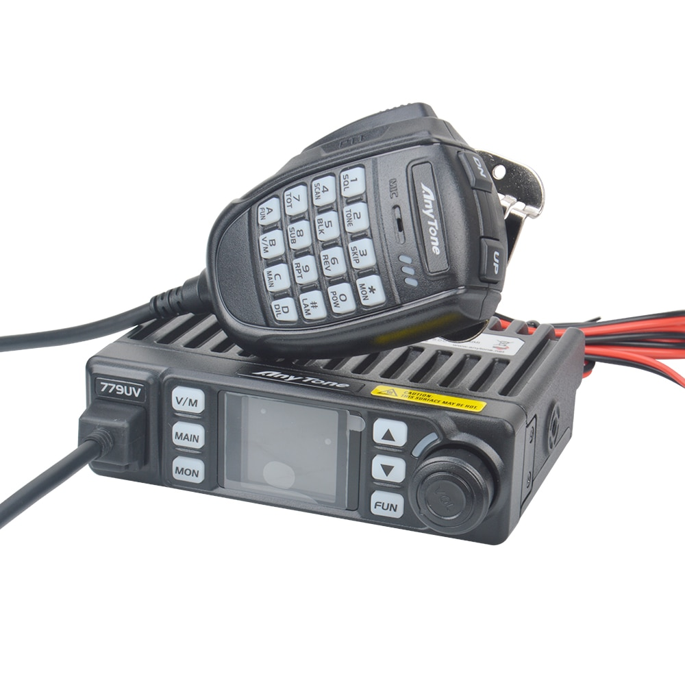 Anytone AT-779UV Mini ham Radio móvil VHF UHF banda Dual 199CH 25W FM Radio Móvil coche 12V suministro de cigarrillos