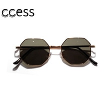 Retro Polygon Sunglasses Men Women 2020 Luxury Pink Lens Round Sunglasses Vintage Small Frame Mirror