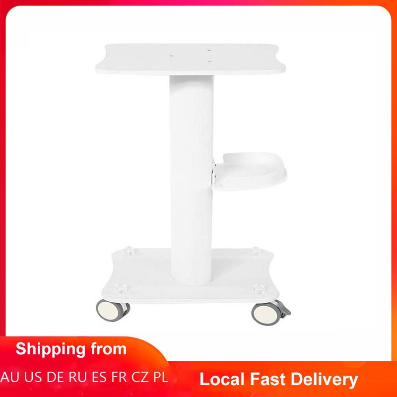 ABS Beauty Salon Trolley Salon Use Pedestal Rolling Cart Wheel Aluminum Stand Salon Furniture