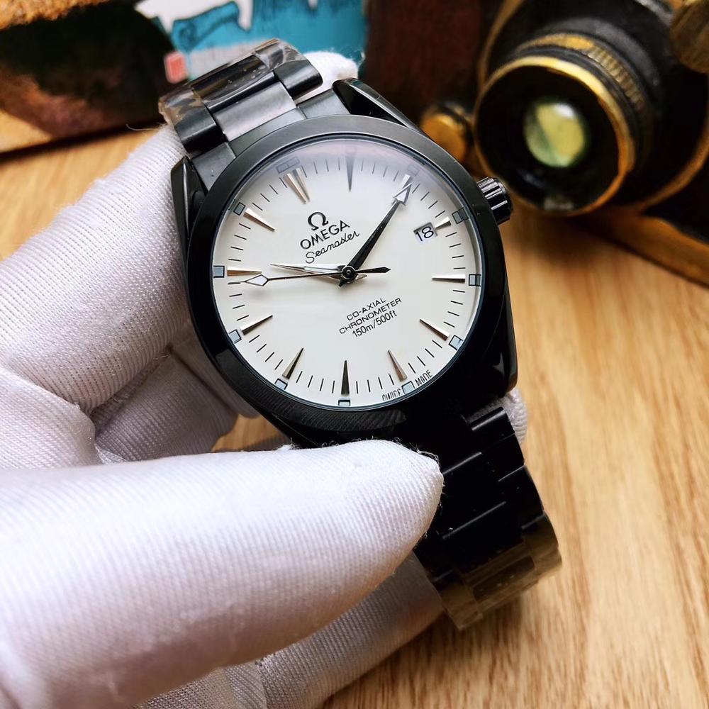 Omega-marca de luxo cerâmica bezel masculino e wom movimento automático mecânico 007 assista designer relógios de pulso 1878
