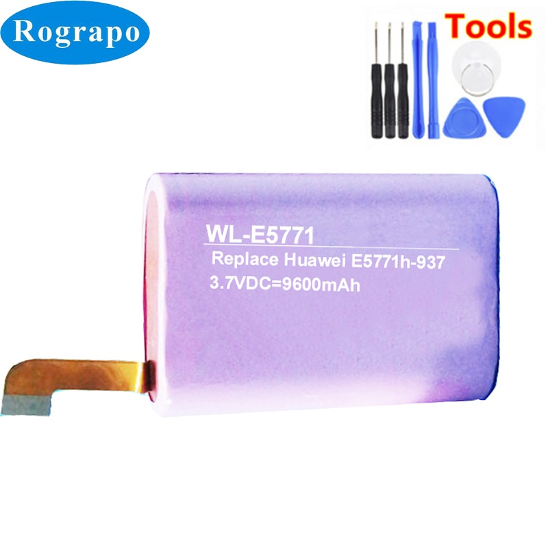 New Battery For Huawei E5771h-937 HBC18650-13 Wireless router Accumulator 3.7V 9600mAh Li-ion Replacement Batterie+tools