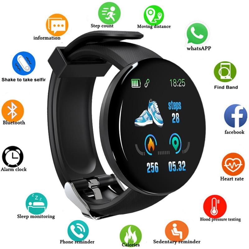 2020 Neue Smart Uhr D18 Männer Frauen automatische uhr Runde Bluetooth Intelligente uhr Wasserdichte Sport Tracker Android Ios Z2
