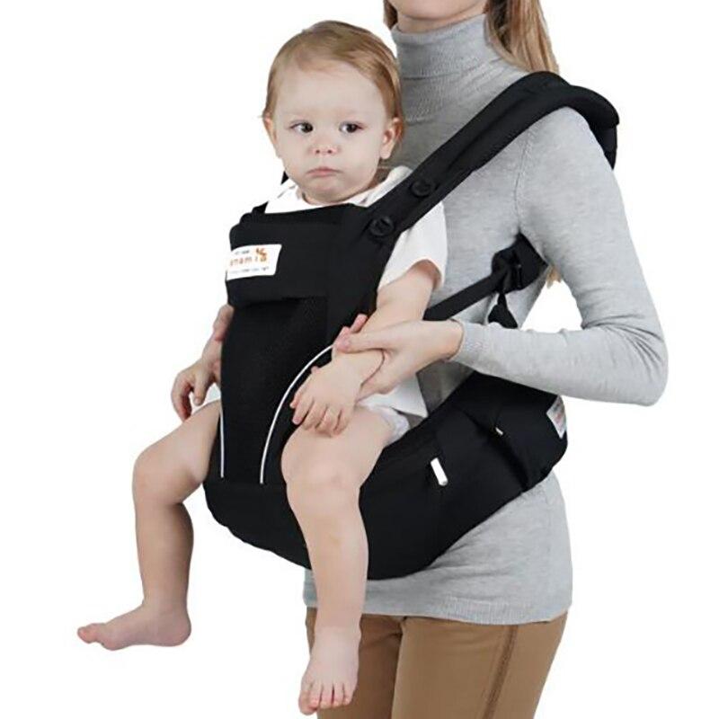 Mochila portabebés para bebé recién nacido, bolsa para asiento de cadera para niño, bolsa para envolver la cintura, taburete para exteriores, multifunción YAN006