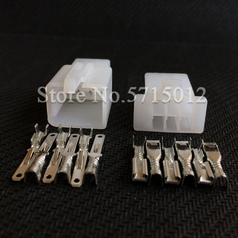 6 Hole 6030-6991 Automotive Female Male Connector Motorcycle Cable Socket