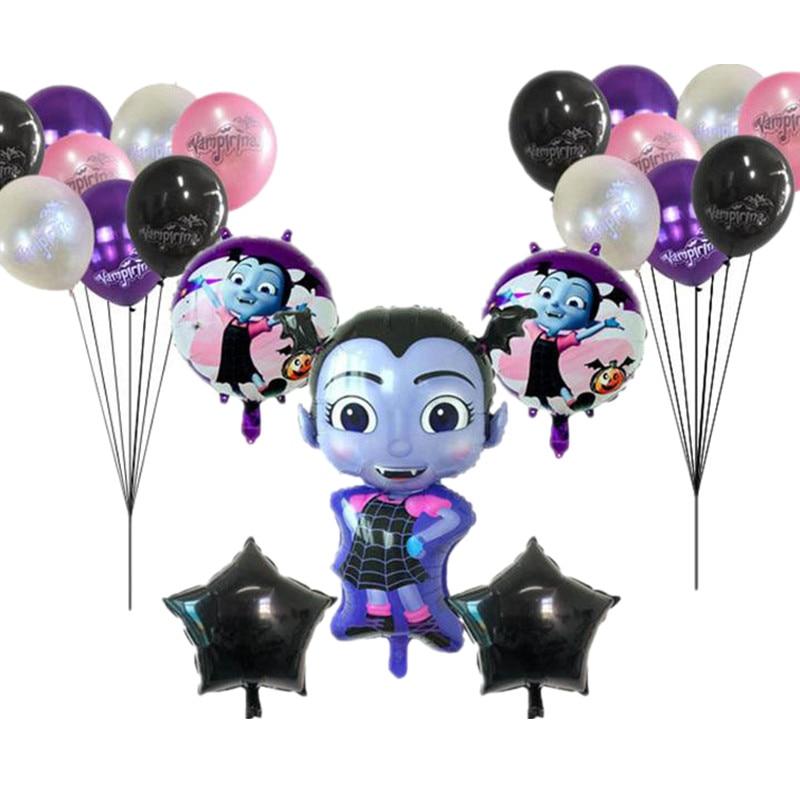 21Pcs Vampire Girl Theme Balloon set Halloween Party Holiday Birthday Decoration Aluminum Balloon Wi