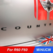 Car Tail Rear Trunk 3D Letters Metal Stickers Refit Paster For Mini Cooper S JCW One Countryman R60