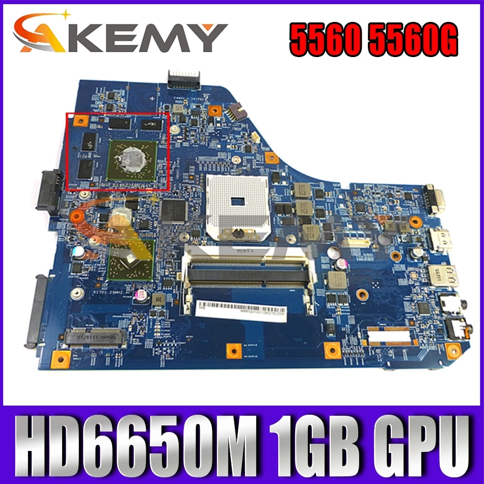Mbru01001 MB.RUS01.001 MBRNZ01001 لشركة أيسر أسباير 5560 5560G اللوحة الأم للكمبيوتر المحمول 48.4M702.01M DDR3 HD 6650M 1GB وحدة معالجة الرسومات الرئيسية
