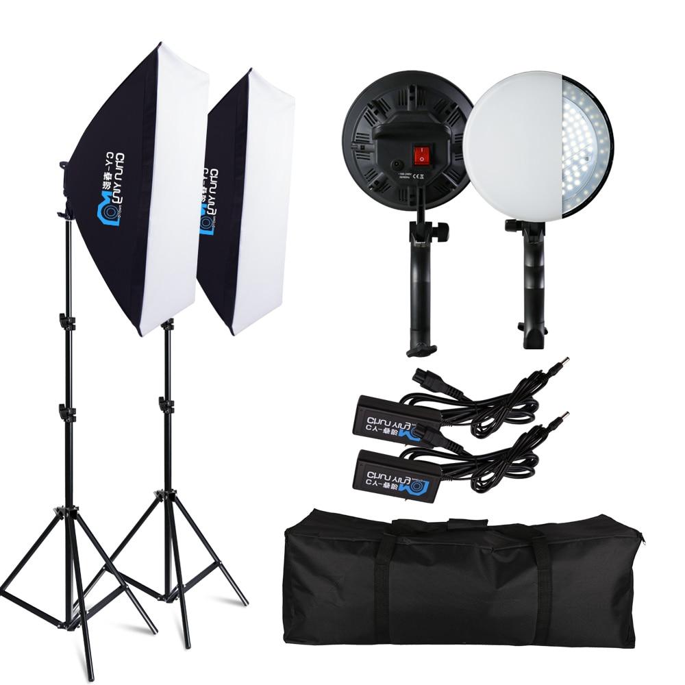 Fotografie 50x70CM LED Lampe Perle Softbox Beleuchtung Kit Kontinuierliche Licht System Kamera Zubehör Für Foto Studio Video