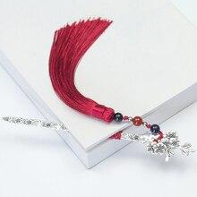 1pc Style rétro glands perles signets métal livre Page marque Vintage Style chinois livre Tag créatif cadeau étudiants papeterie