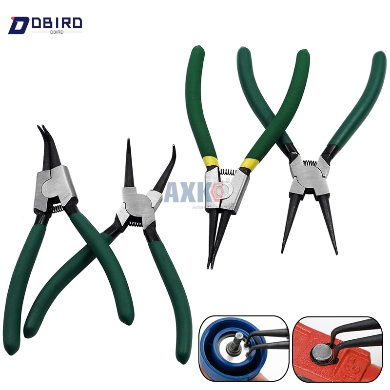 7 Inch Internal External Curved Straight Tip Circlip Snap Ring Plier Bike DBIRD