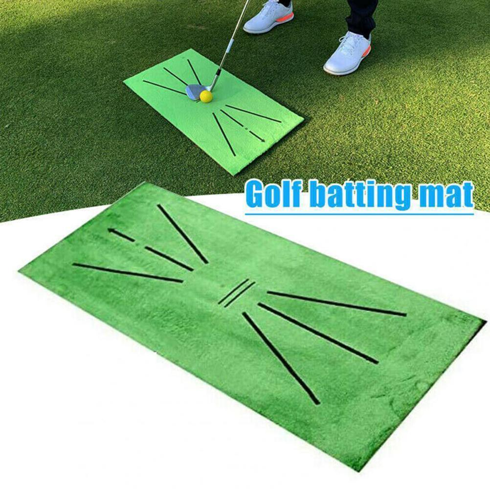 Outdoor Golf Training Swing Detection Mat Batting Golfer Garden Grassland Practice Training Equipment Mesh Aid Cushion Golf Tool
